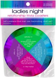 Ladies Night Relationship Trivia Coasters