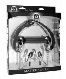 Master Series Equine Silicone Bit Gag & Nipple Clamps