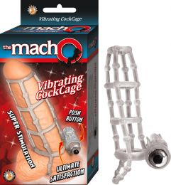 Waterproof Vibrating Penis Extender Cock Cage (Color: Clear)