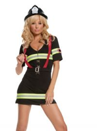 Ms. Blazin Hot Fire Fighter Costume (Sizes: Small)