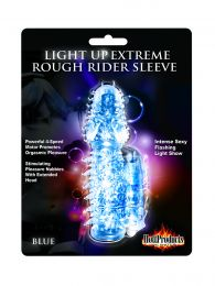 Light Up Vibrating Pleasure Sleeve (Color: Blue)