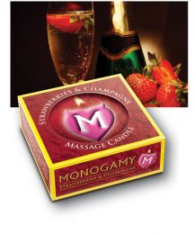 Monogamy Massage Candle (Flavour: Strawberry/ Champagne)