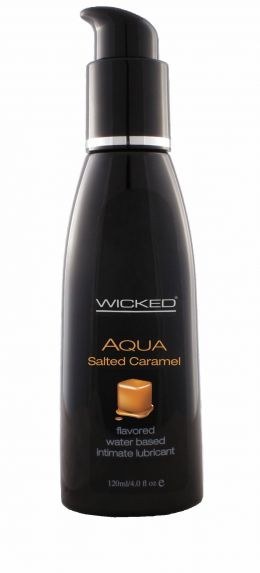 Wicked Aqua Lube 4 Oz (Flavour: Salted Caramel)